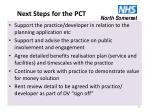 next steps for the pct