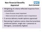non financial benefits appraisal