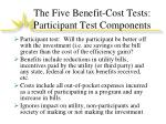 the five benefit cost tests participant test components