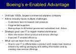 boeing s e enabled advantage
