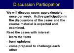 discussion participation