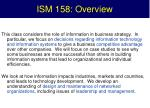 ism 158 overview