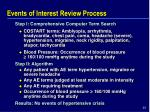 events of interest review process