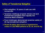 safety of transdermal selegiline44