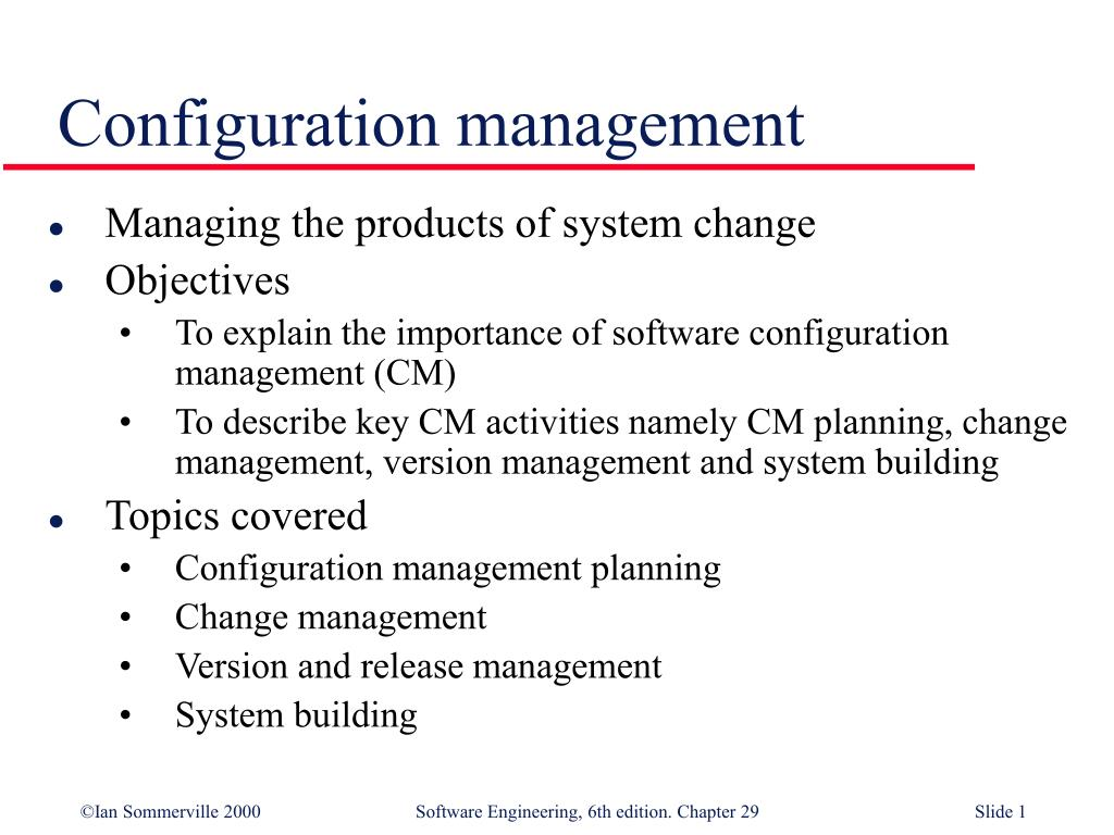 configuration management l.