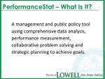 performancestat what is it