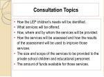 consultation topics99