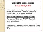 district responsibilities fiscal management