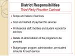district responsibilities third party provider contract8