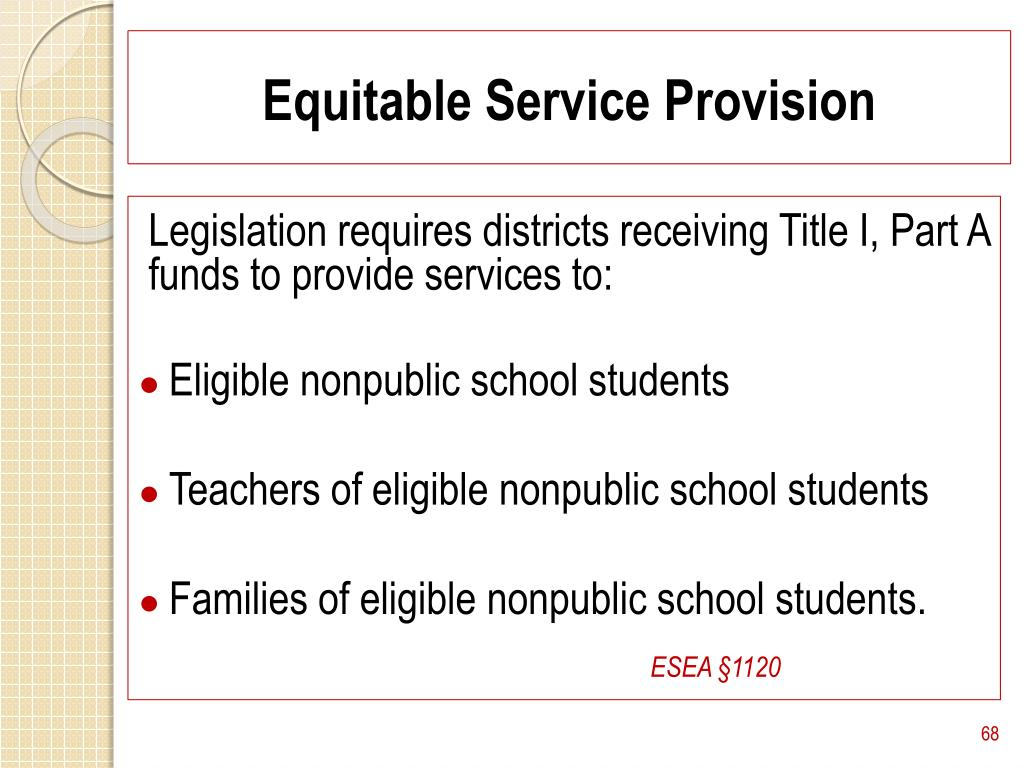 Equitable Service Provision