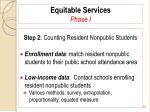 equitable services phase i72