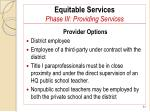 equitable services phase iii providing services81