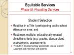 equitable services phase iii providing services82