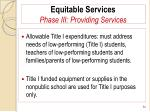 equitable services phase iii providing services84