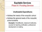 equitable services phase iii providing services85