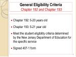general eligibility criteria chapter 192 and chapter 1934