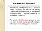 how are services determined