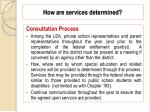 how are services determined55
