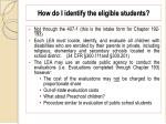 how do i identify the eligible students