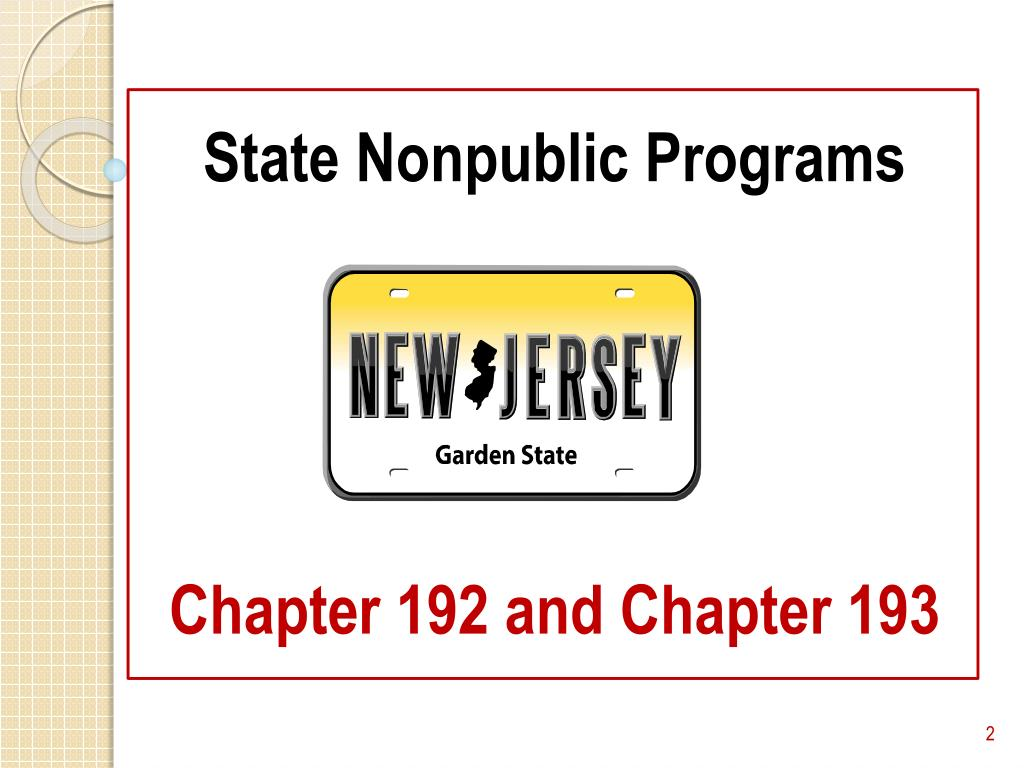 State Nonpublic Programs