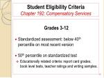 student eligibility criteria chapter 192 compensatory services