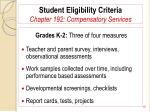 student eligibility criteria chapter 192 compensatory services16