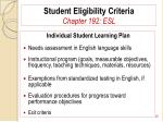 student eligibility criteria chapter 192 esl20