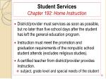 student services chapter 192 home instruction