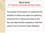 title iv part b 21 st century community learning centers