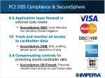 pci dss compliance securesphere