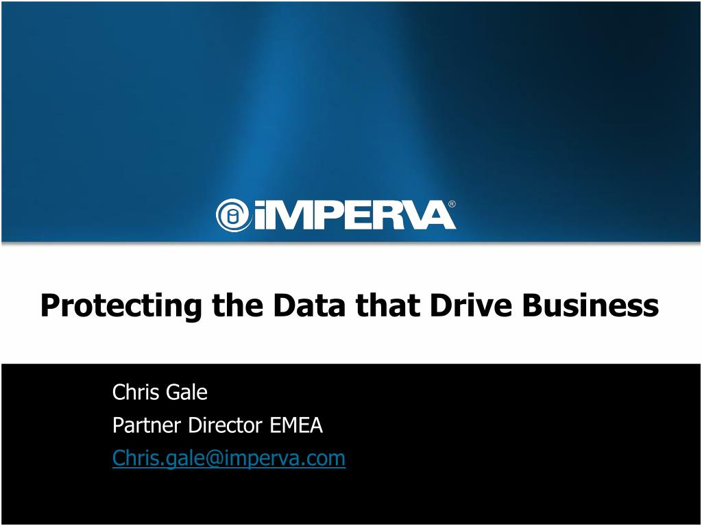 protecting the data that drive business l.