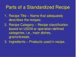 parts of a standardized recipe4