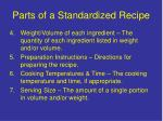 parts of a standardized recipe5