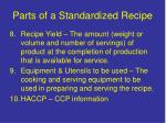 parts of a standardized recipe6