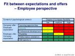fit between expectations and offers employee perspective