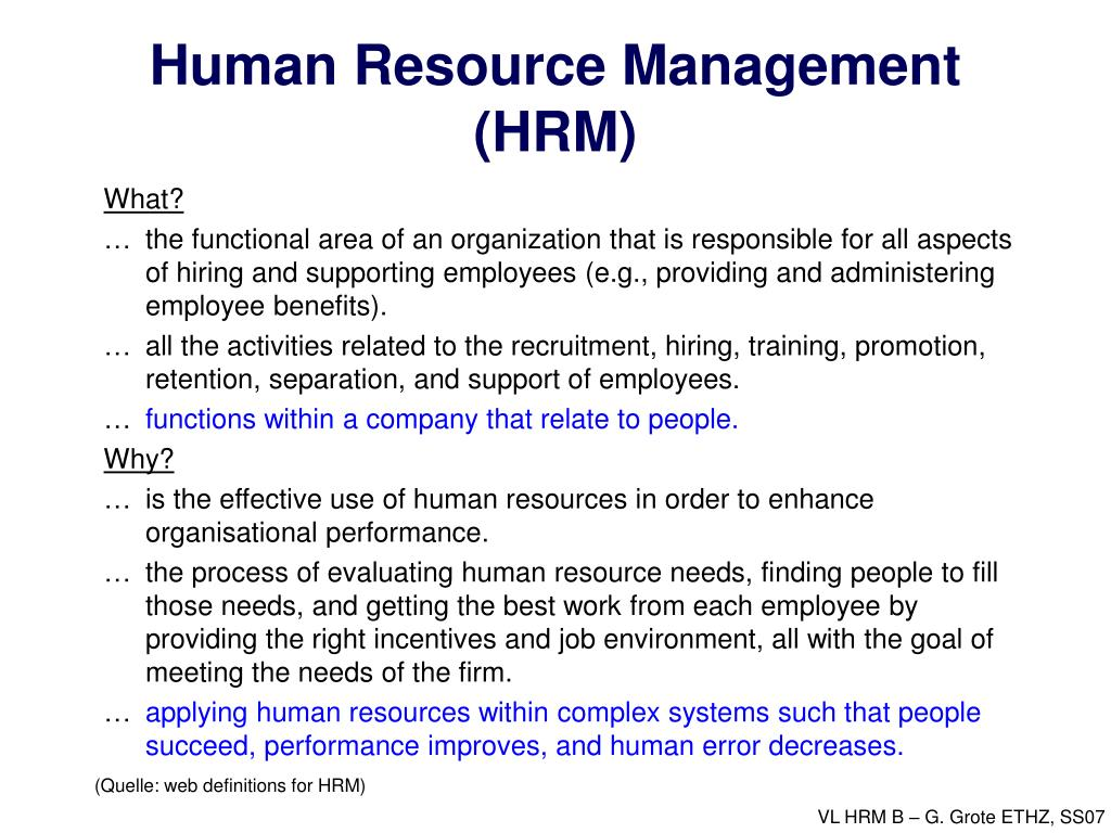 human resource management hrm l.