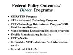 federal policy outcomes direct programs
