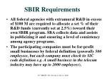 sbir requirements