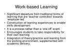 work based learning