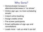 why sona