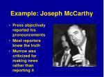 example joseph mccarthy
