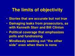 the limits of objectivity
