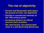 the rise of objectivity