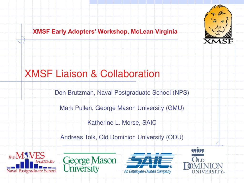 xmsf liaison collaboration l.