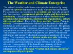 the weather and climate enterprise