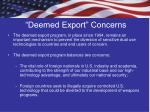 deemed export concerns
