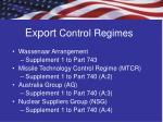 export control regimes