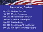 numbering system