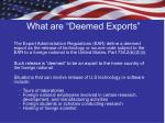 what are deemed exports