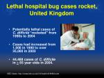 lethal hospital bug cases rocket united kingdom